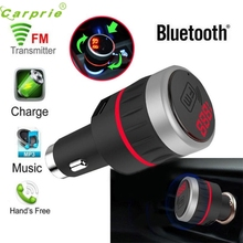 New Arrival car-styling Bluetooth Car Kit MP3 Player Radio FM Transmitter Handsfree With USB Charger AUX mr21
