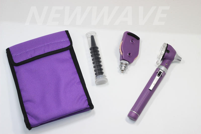 Diagnostic-Set Otoscope Ear-Mirror ENT Fiber-Optic Doctor Professional Otolaryngologist title=