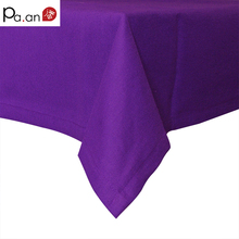 Purple cotton rectangular table cloth european solid tablecloth for party weddings hotel kitchen table cover high quality