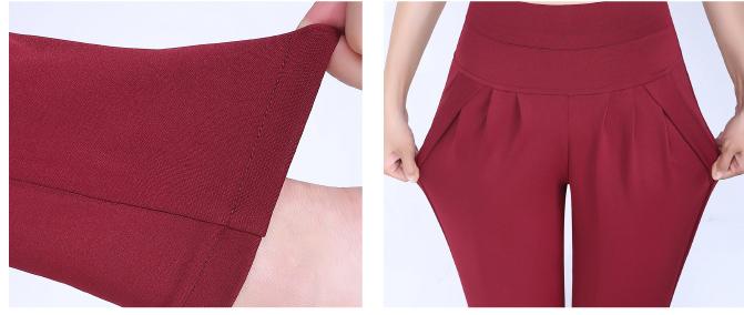 New Autumn Women Casual Loose High Waist Harem Pants Ladies Office Pants Plus Size Trousers S~4XL 5XL 6XL Blue Red Khaki Brown 16
