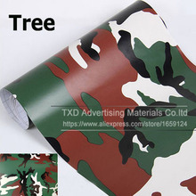 10/20/30/40/50/60x152cm/Lot Tree Camouflage Camo Vinyl Car Wrapping Camo Film Sticker Air Free Bubbles Free Ship