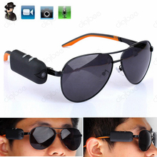 New Wearable Sport Camera HD 1080P Eyewear Video Recorder Sunglasses With Detachable Camera Mini DV Camcorder(China)