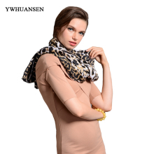 YWHUANSEN Winter Warm Scarf Shawl Women's Europe Fashion Leopard Print Scarves Fall HOT Sale Russian Brand Spring Big Size Scarf(China)