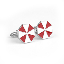 Novelty Cufflinks Movie Resident Evil Red Umbrella Design Cuff Button Men's Shirt Cuff Link Jewelry