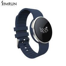 Symrun Waterproof Call Reminder UW1 Bluetooth 4.0 Smart Sport Bracelet Mirror OLED Band Heart Rate Monitor