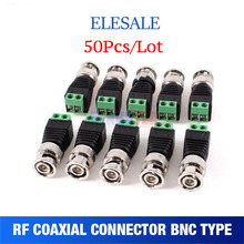 50Pcs lot Mini Coax CAT5 To Camera CCTV BNC UTP Video Balun Connector Adapter BNC Plug For CCTV System Accessories