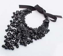 12pcs/lot Europe and America exaggerated elegance lace fashion accessories ball necklace
