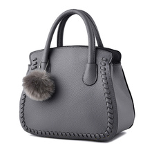 Fashion PU Women's Shoulder Bag Elegant Office Lady Handbag Dark Grey Embossing Clutch Zipper(China)