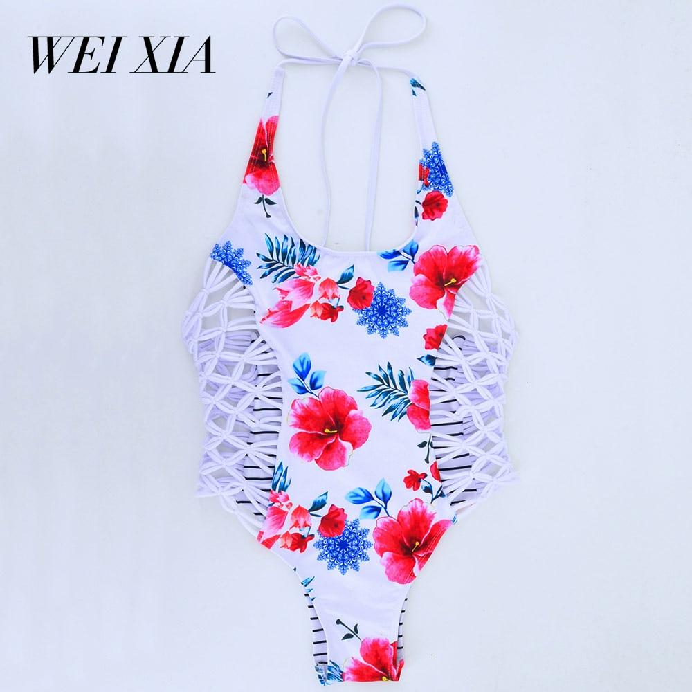 WEIXIA 2018 Cross string One Piece Totem Female GL1608 Swimwear Wild Women Swimsuit Sexy Beach Swim Wear<br>