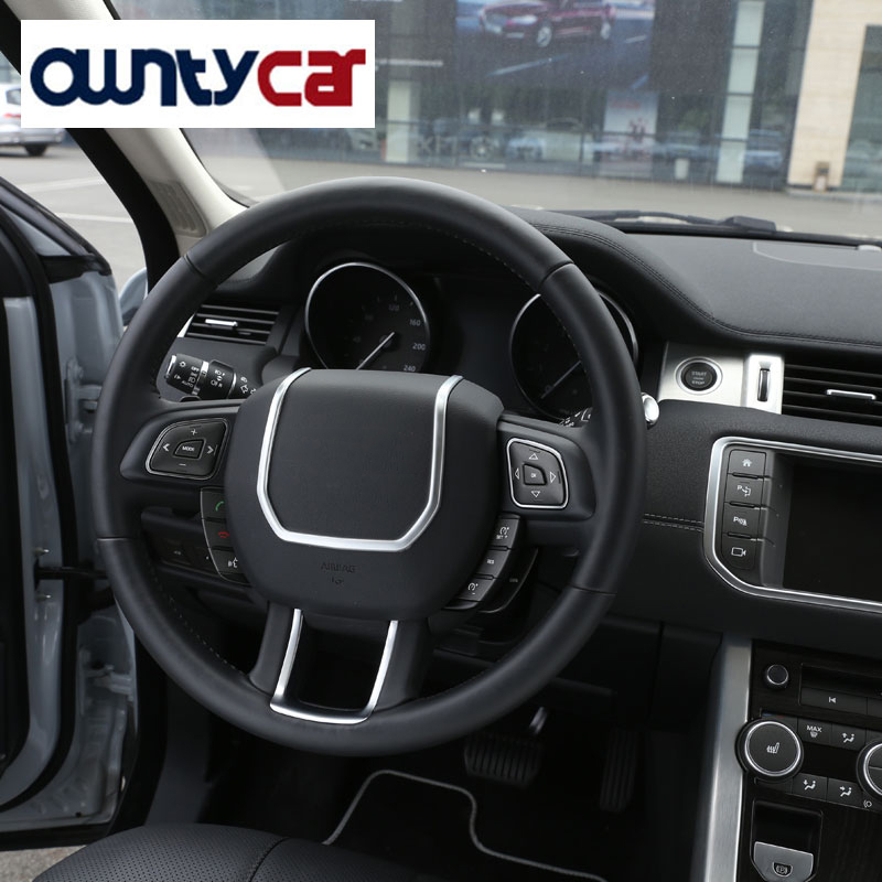 ABS-Chrome-Steering-Wheel-Decorative-Strips-Cover-Trim-Stickers-for-Land-Rover-Range-Rover-Evoque-interior (3)