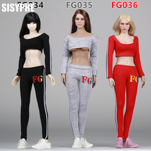 "Fire Girl Toys 1/6 Soldiers Female Clothing FG034-036  Women's Common Sportswear Suitable All 12"" Action Figure Dolls Body Toys"