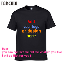 TARCHIA 2017 Printed Personalized T-Shirts designer logo mens t shirt Advertising new boy tshirt short-sleeve tees tops cotton