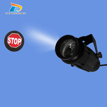 Wholesale or Retail Outdoor Waterproof IP65 Stop Sign LED Traffic Projector 1200 Lumens Projector  Light with 1 Two Colors Gobo