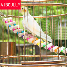 Classic 4 Styles Small Birds Toys Pet Toy Accessories Drawbridge Bridge Wooden Singing Cockatiel Parrot Toys(China)