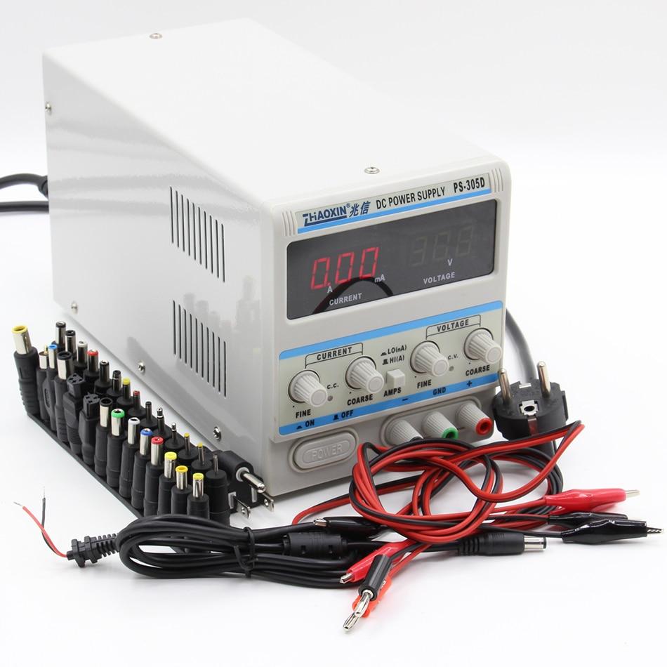 Digital 30V 5A 220V DC LED Display Regulated Variable Power Supply Lab Equipment
