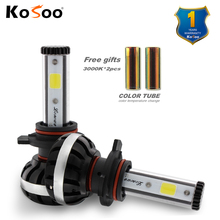 KOSOO Car Led Head Light 9012 Auto Bulb Headlamp 6500K and 3000k DIY Lights Lighting Auto Head Lamp Front Light Car Accessories