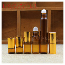 Brown Essence Fluid Roll Ball Bottle, Two Different Color of The Ball,Female Beauty &Skin Care Cosmetics Packaging Bottles