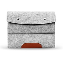 Felt Sleeve Handle Laptop Sleeve Pouch Cover Bag for iPad 2 3 4 iPad Air mini Case, Light gray 13 inch
