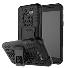 Cell Phone Cases Covers For Samsung Galaxy J3 2017 Duos J327F PC TPU Hybrid Military Armor Kickstand Housing Bags Skin Shell