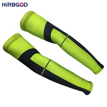 HIRBGOD 2017 Green Sport Arm Warmers Men Women Cycling Arm Warmer Sleeve Bicycle Ciclismo Volleyball Cover Uv Sports Safe,XT103(China)