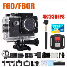 F60/F60R Action Camera 4K/30fps 16MP WIFI Extreme Sport camera DV 170D Lens Helmet Cam Diving 30M Pro Waterproof Go Mini camera