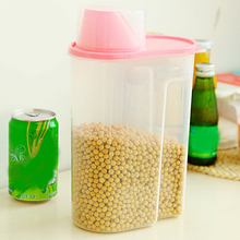 Rice Holder Box Cereal Bean Container Sealed Box with Measuring Cup 1.8/2.5L Kitchen Storage Organizer Grain Storage Container