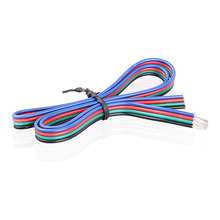 DC5-24V 22AWG 4 Pin RGB Colorful Wire Cable Lighting Accessories Extension Cord for RGB 3528 5050 LED Strip Light/Downlight