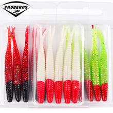 "3 Boxes Soft Fishing Lures 7cm-2.76""/2.55g-0.09oz 3 Color Bass Baits Silicon Wobblers Fishing Tackle 5pc/box DW6020"