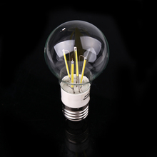 E27 AC/DC12V 4W Retro Filament Glass Light Lamp Bulb Lightning White/Warm White(China)
