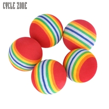 Activing New Arrival 5Pcs/Pack Rainbow Stripe Foam Sponge Golf Balls Swing Practice Training Aids Drop Shipping OCT28