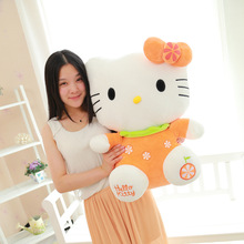 32 CM One Piece Cute Hello Kitty Plush Toy Doll Foam Particles KT Cat Dressing Clothes Dolls Kid Birthday Gifts 4 Colors