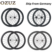 OZUZ Ship From Germany To Avoid Tariffs 700C 38mm 50mm deep Tubular Clincher Carbon Wheels Racing Road Bike Wheelset 5 Hubs