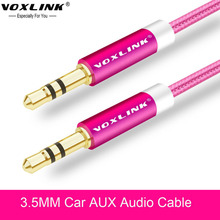 VOXLINK 3.5 mm Jack Aux Audio Cable 1M Gold Plated Nylon 3.5mm Car Audio Cable For Headphone Beats Speaker Auxiliary Wire Cord