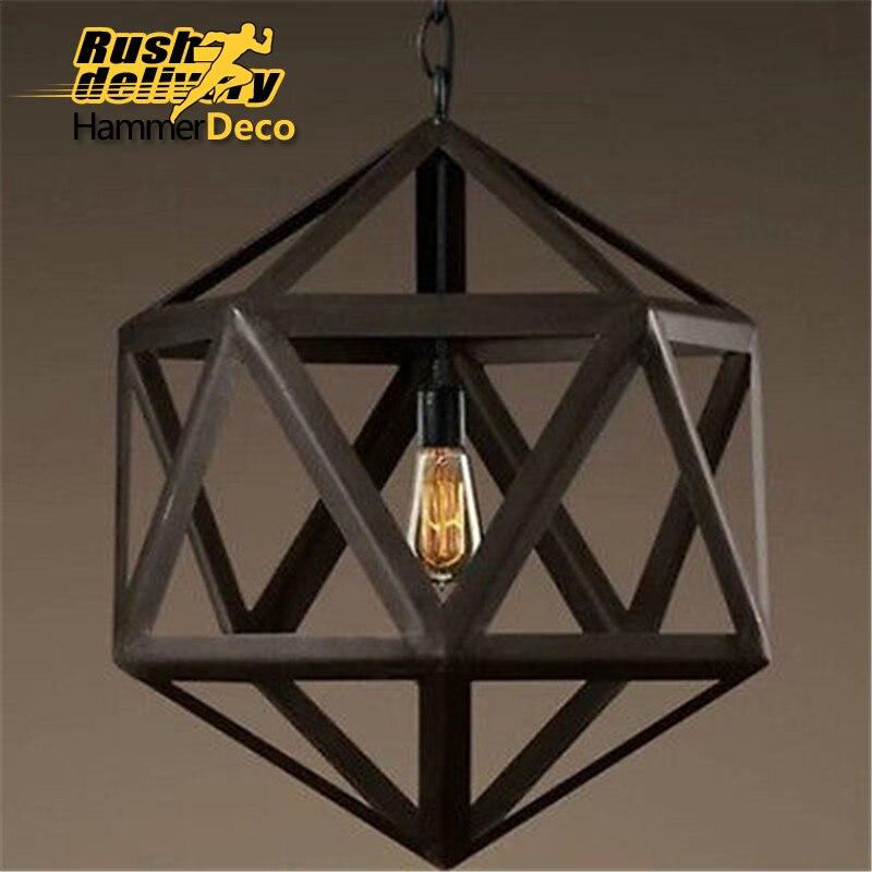 Vintage retro pendant lights metal cage lampshade lighting hanging light fixture 32cm 42cm<br><br>Aliexpress
