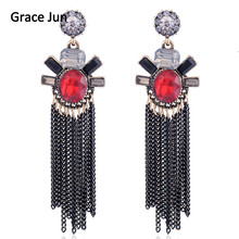 2017 New Products Vintage Bohemian Dangle Drop for Women Fine Jewelry Crystal Large Statement Earrings Factory Direct Wholesale(China)