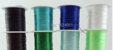 AXD0048  0.5mm flat crystal elastic cord elastic cord wire  *waxed thread for leather leather cord rope copper wire