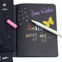 Creative Black Paper Notebook Diary Notepad Sketch Graffiti Notebook For Drawing Painting Office School Stationery