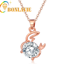 Astrology Constellation Fashion Rose Gold Color Cancer Zodiac Glittering Necklace&Pendant Chain Jewelry for Women Bijoux NYNC58