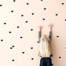 1 set Mini Hearts Home Wall Stickers Little Hearts Wall Decals Removable Art Mural Home Decoration Nursery Deco