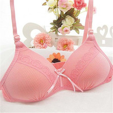 High Quality Dot Print Girl's Bra Healthy Cotton Intimates Girls Comfortable Adjustable Strap Push Up Padded Bra(China)