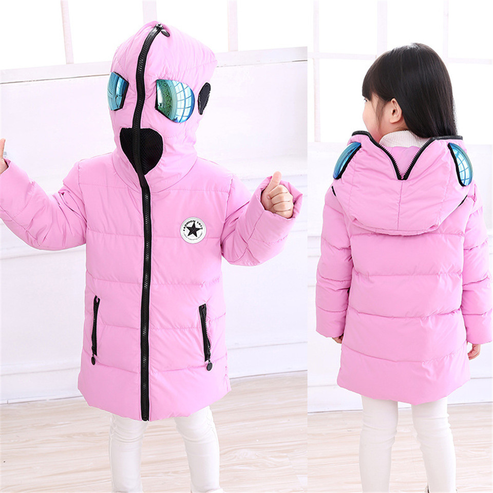 Child Winter Warm Duck Down Jacket with Glasses Boys Girls Thick Hooded Spider-man Parkas Kids Halloween Christmas OuterwearОдежда и ак�е��уары<br><br><br>Aliexpress