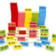 2017 New Arrivals Math Toys 110 Pcs Mathematics Domino Block Toy Children Educational Math Learning Cognitive Match Development(China)