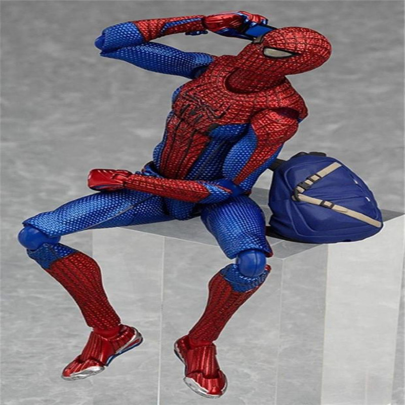 Hot 16cm The Avengers Anime Super Hero Action Figures Toys Figma Spider-Man PVC Model Collection Dolls Boys Best Gift Free Ship<br><br>Aliexpress