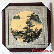 Шелковая вышивка готовой продукции вручную изысканный пейзажной живописи(China)