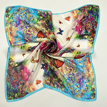 [BYSIFA] Chinese Women Small Square Silk Scarf Spring And Autumn Female Silk Scarf New Butterfly Pattern Satin Scarves 55*55cm(China)