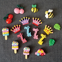 Fridge Magnet cartoon animals fruit Magnet refrigerator Magnetic absorption stickers Message posted Home Decorations magnets