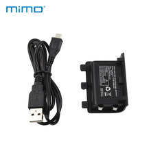 MIMD Rechargeable Battery Pack And USB Charger Cord For Microsoft Xbox One Controller Free Shipping