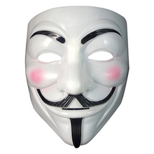 5pcs Party Cosplay mask V for Vendetta Anonymous Guy Fawkes Fancy Dress Adult Costume Accessory macka mascaras halloween masque(China)