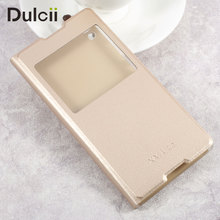Buy dulcii coque Sony Xperia XA1 Ultra Phone Cases Clear PC View Window Leather Case Sony Xperia XA1 Ultra cover capa- Gold for $3.69 in AliExpress store