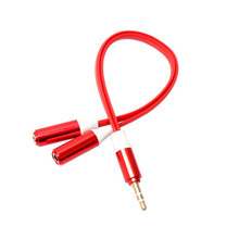 Newest 3.5mm Stereo Audio Male to 2 Female Headset Mic Y Splitter Cable Adapter for IOS Android Cell phones Jan20